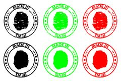 Γίνοντας στη σφραγίδα Nevis απεικόνιση αποθεμάτων