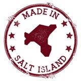 Γίνοντας στο αλατισμένο γραμματόσημο νησιών διανυσματική απεικόνιση