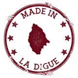 Γίνοντας στο γραμματόσημο Λα Digue ελεύθερη απεικόνιση δικαιώματος