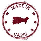 Γίνοντας στο γραμματόσημο Capri διανυσματική απεικόνιση