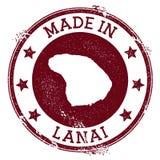 Γίνοντας στο γραμματόσημο Lanai διανυσματική απεικόνιση