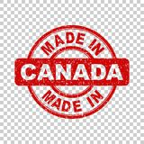 Γίνοντας στο κόκκινο γραμματόσημο του Καναδά Στοκ Εικόνες