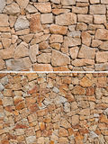 γίνοντα ανασκόπηση λευκό τοίχων σύστασης πετρών πετρών Στοκ Εικόνα