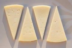 γίνοντα γάλα ισπανικά manchego τυριών τρόφιμα χαρακτηριστικά Στοκ εικόνα με δικαίωμα ελεύθερης χρήσης