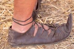 γίνοντα δέρμα παπούτσια Στοκ φωτογραφία με δικαίωμα ελεύθερης χρήσης