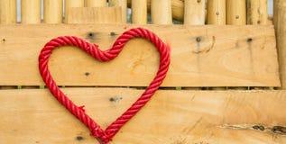 γίνοντα καρδιά σχοινί Στοκ φωτογραφία με δικαίωμα ελεύθερης χρήσης