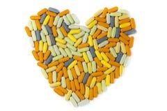 γίνοντα καρδιά χάπια Στοκ εικόνες με δικαίωμα ελεύθερης χρήσης