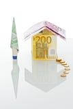 γίνοντα σπίτι χρήματα Στοκ εικόνες με δικαίωμα ελεύθερης χρήσης