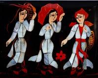 γίνοντα τέχνη μαργαριτάρι βι Στοκ φωτογραφία με δικαίωμα ελεύθερης χρήσης