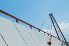 γίνοντες γέφυρα εικόνες κοντά στην πόλη της οδικής Ρωσίας rzhev Στοκ Εικόνες