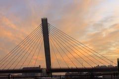 γίνοντες γέφυρα εικόνες κοντά στην πόλη της οδικής Ρωσίας rzhev στοκ φωτογραφίες