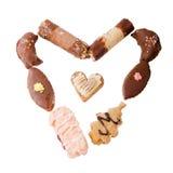 γίνοντη καρδιά μορφή μπισκότ& Στοκ φωτογραφία με δικαίωμα ελεύθερης χρήσης