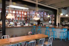 Γαλήνιος καφές San Antonio Τέξας στοκ φωτογραφία