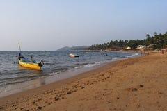 Γαλήνιος νότος Goa παραλιών Palolim στοκ φωτογραφίες με δικαίωμα ελεύθερης χρήσης