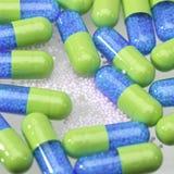 γαλαζοπράσινα χάπια Στοκ Εικόνα