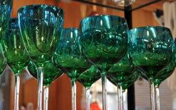 Γαλαζοπράσινα Goblets στοκ φωτογραφία με δικαίωμα ελεύθερης χρήσης