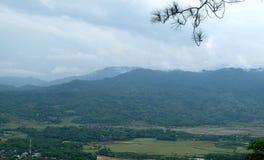 γαλαζοπράσινος ουρανός τοπίων στοκ εικόνες