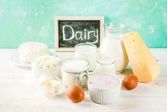 γαλακτοκομικά προϊόντα π&omi στοκ εικόνα