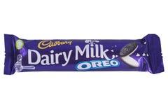 Γαλακτοκομικός φραγμός σοκολάτας Oreo γάλακτος Στοκ Εικόνα