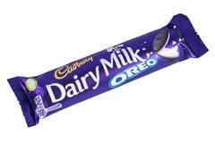 Γαλακτοκομικός φραγμός σοκολάτας Oreo γάλακτος Στοκ φωτογραφία με δικαίωμα ελεύθερης χρήσης
