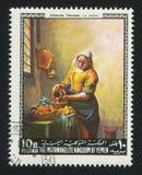 Γαλακτοπώλης από Vermeer Στοκ Εικόνες