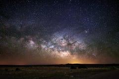 Γαλακτώδες υπόβαθρο νυχτερινού ουρανού γαλαξιών τρόπων Στοκ Φωτογραφία