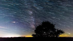 Γαλακτώδη ίχνη 4k αστεριών τρόπων απόθεμα βίντεο