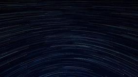 Γαλαξίας ιχνών αστεριών στη ζαλίζοντας νύχτα, 4k βίντεο απεικόνιση αποθεμάτων