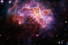 Γαλαξίας, starfield, νεφελώματα, συστάδα των αστεριών στο βαθύ διάστημα Τέχνη επιστημονικής φαντασίας στοκ εικόνες με δικαίωμα ελεύθερης χρήσης