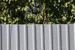 Γαλβανισμένος φράκτης σιδήρου στοκ εικόνες