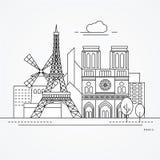 Γαλλία Παρίσι ελεύθερη απεικόνιση δικαιώματος