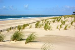 Γαλλία, Aquitaine, ατλαντική παραλία, αμμόλοφοι στοκ φωτογραφία