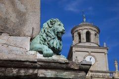 Γαλλία, Arles, το άγαλμα σε μια πηγή στο κύριο τετράγωνο Στοκ Φωτογραφίες