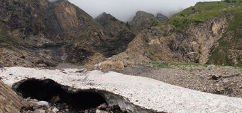 γαλλικά βουνά παγετώνων Στοκ εικόνα με δικαίωμα ελεύθερης χρήσης