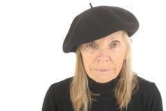 γαλλική ανώτερη γυναίκα Στοκ Εικόνες