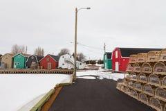 Γαλλική αποβάθρα PEI Καναδάς ποταμών προετοιμασιών εποχής αστακών στοκ φωτογραφία με δικαίωμα ελεύθερης χρήσης