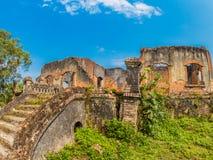 Γαλλική αποικιακή καταστροφή Muang Khoun, Λάος στοκ εικόνες