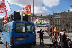 Γαλλική γενική συνομοσπονδία της εργασίας CGT στοκ φωτογραφία με δικαίωμα ελεύθερης χρήσης