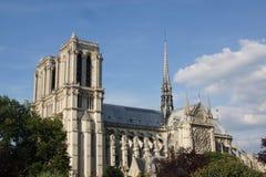 Γαλλική γοτθική αρχιτεκτονική - καθεδρικός ναός Notre-Dame περιοχής Στοκ Εικόνα