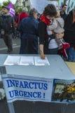 γαλλική διαμαρτυρία νοσοκομείων Στοκ φωτογραφία με δικαίωμα ελεύθερης χρήσης