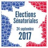 Γαλλική εκλογή 2017 Συγκλήτου Στοκ Εικόνες