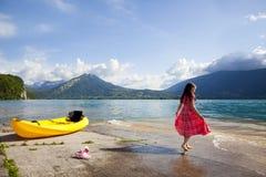 γαλλική λίμνη του Annecy στοκ εικόνα
