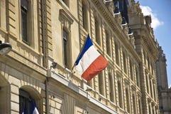 Γαλλική σημαία Στοκ Φωτογραφία