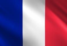 Γαλλική σημαία διανυσματική απεικόνιση