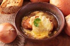 γαλλική σούπα κρεμμυδιών στοκ φωτογραφίες με δικαίωμα ελεύθερης χρήσης