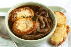 γαλλική σούπα κρεμμυδιών Στοκ Φωτογραφίες