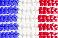 γαλλική σύσταση σημαιών Στοκ Φωτογραφίες