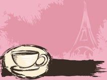 γαλλικός βρώμικος καφέ α&n διανυσματική απεικόνιση