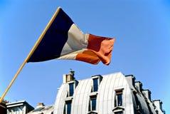 γαλλικός εθνικός σημαιών Στοκ Εικόνες