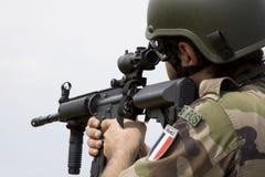 γαλλικός στρατιώτης Στοκ Φωτογραφίες